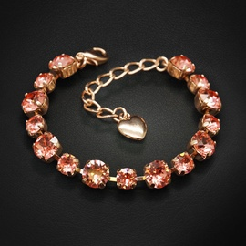 Diamond Sky Bracelet Classic IV Rose Peach With Swarovski Crystals
