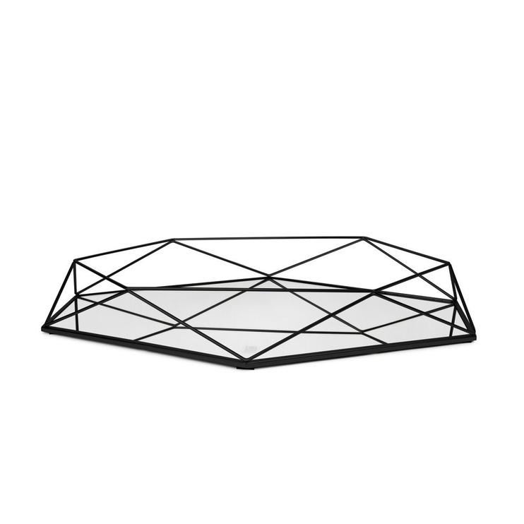 Peegel Umbra Prisma Black, riputatav, 57x43 cm