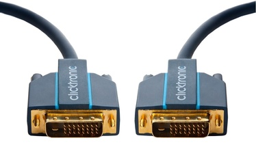 Clicktronic Cable DVI-D To DVI-D 1m Blue