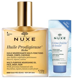 Nuxe Huile Prodigieuse Riche Nourishing Oil 100ml + 15ml Moisturising Rich Cream