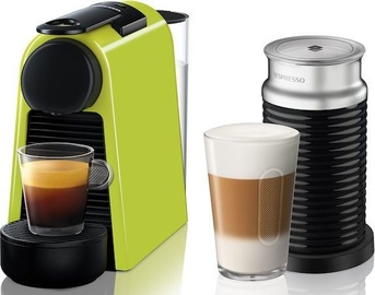 Nespresso Coffee Machine w/ Milk Frother Essenza Mini D30 EN85.L Lime Green