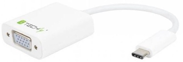 Techly Adapter USB to VGA White
