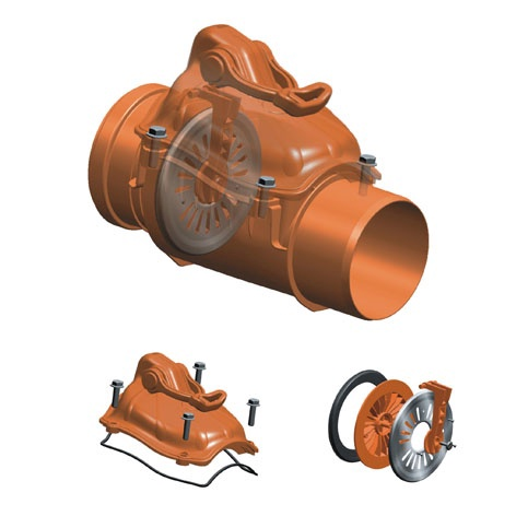 Pretvārsts ārējais D110 PVC (Magnaplast)
