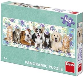 Puzle Dino Panoramic Dogs & Cats 39327, 150 gab.