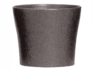 Вазон Scheurich Anthrazit 808/26, черный/серый