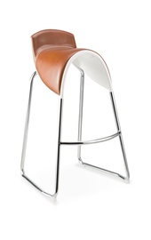 Halmar H-71 Bar Stool White/Light Brown