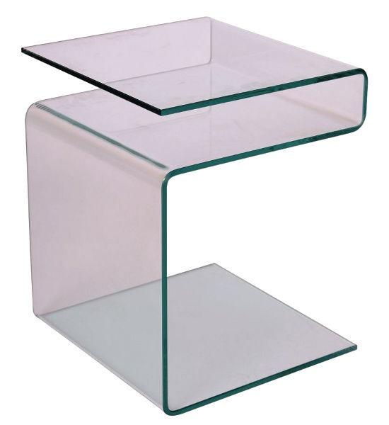 Kafijas galdiņš Signal Meble Modern Epi, caurspīdīga, 380x420x480 mm