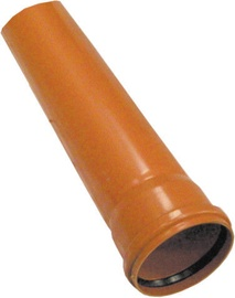 Plastimex Sewage Pipe Brown 200mm 1m