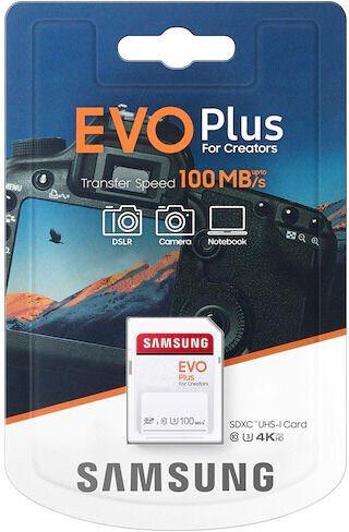 Mälukaart Samsung Evo Plus SD UHS-I U3 32GB MB-SC32H/EU