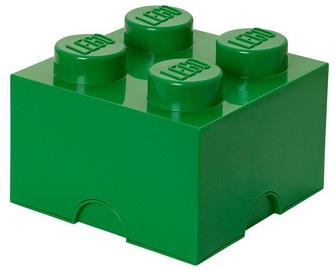 LEGO Storage Brick 4 Knobs Medium Green