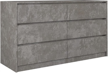 Komoda Top E Shop Karo K140 Concrete, 138x40x75 cm