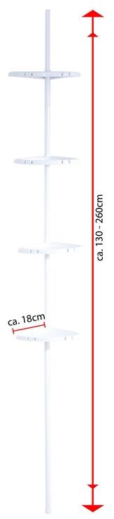 Ridder Telescopic Shower Rack 130-260 cm