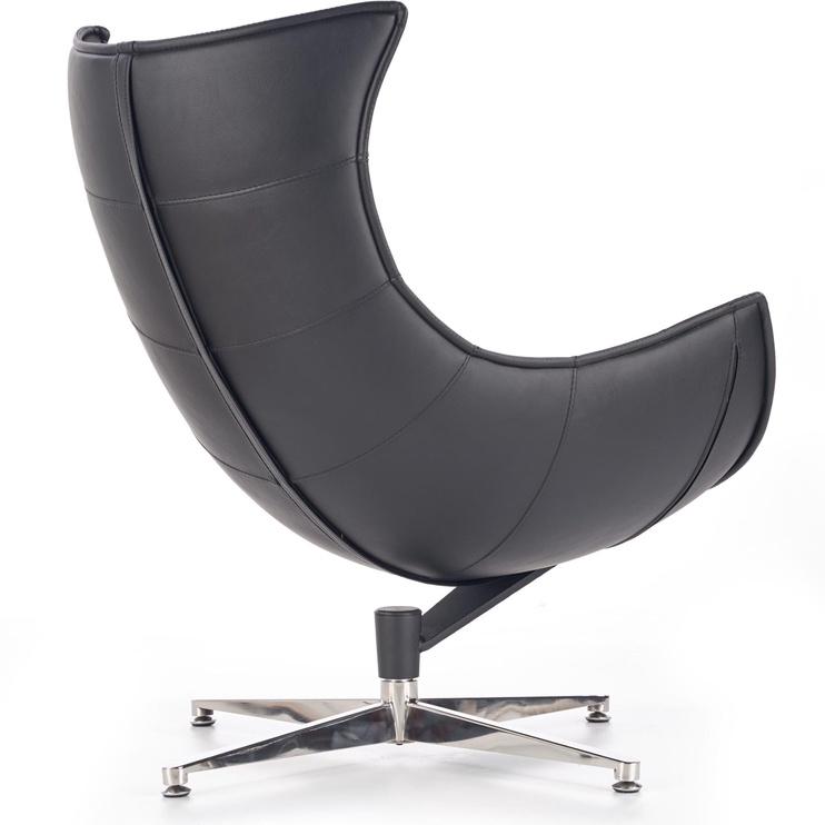 Fotelis Halmar Luxor, juodas, 86x36x84 cm