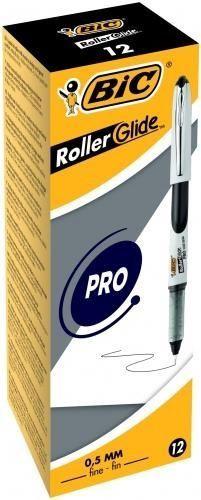 BIC Roller Glide Roller Pen 0.5mm Black 12pcs