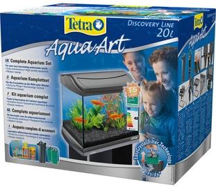 Akvariumas Tetra AquaArt, pilkas, 20 l, su įranga