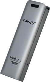 USB atmintinė PNY Elite Steel 3.1, USB 3.1, 128 GB