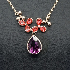 Diamond Sky Pendant Celestial Magic Fuchsia With Swarovski Crystals