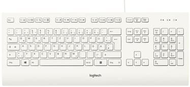 Logitech Corded Keyboard K280e DE White