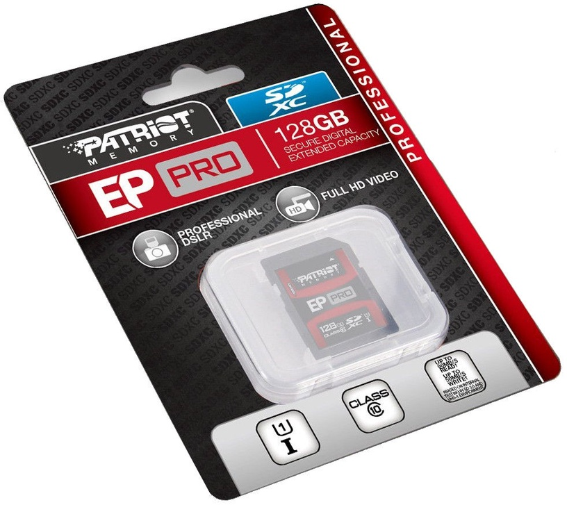 Patriot EP PRO Series 128GB Class10 UHS-1 SDXC Flash Memory Card