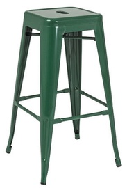 Signal Meble Hoker Long Bar Stool Dark Green