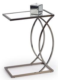Kavos staliukas Halmar Parma Transparent/Metallic, 460x250x600 mm