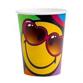 Sünnipäevad CUPS SMILEY 8tk.