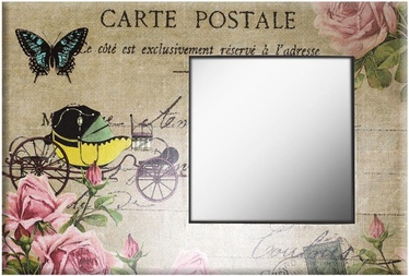 Home4you Mirror Linen Butterfly 60x90cm 75061