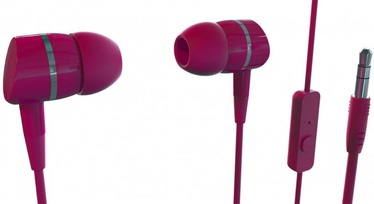 Vivanco Smartsound In-Ear Headphones w/ Mic Red