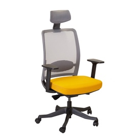 Home4you Anggun Office Chair Yellow/Grey