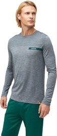 Audimas Fine Merino Wool Long Sleeve Shirt Mid Grey XL