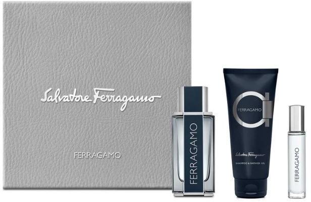 Подарочный набор для мужчин Salvatore Ferragamo Ferragamo 100ml EDT + 100ml Shower Gel + 10ml EDT
