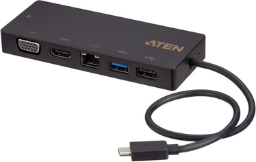 Aten UH3236 USB-C Multiport Mini Dock with Power Pass-Through