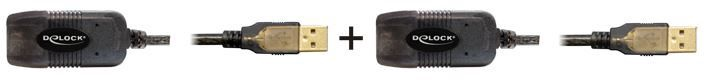 Delock Cable USB / USB Black 15m