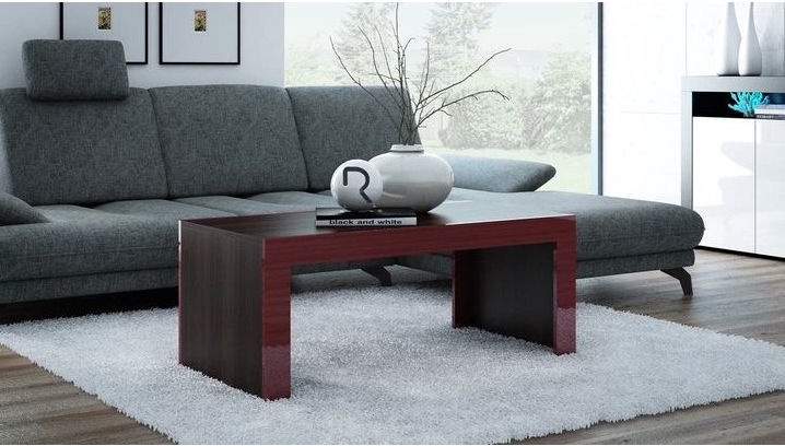 Kafijas galdiņš Pro Meble Milano Wenge/Red, 1200x600x500 mm