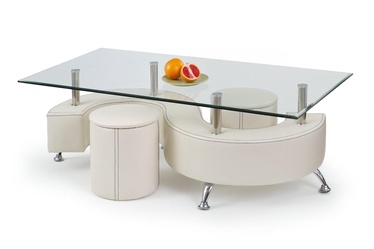 Kafijas galdiņš Halmar Nina 3H White, 1300x700x550 mm
