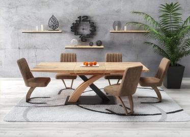 Pusdienu galds Halmar Sandor 3 Golden Oak/Black, 1600x900x770 mm