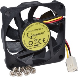 Gembird Cooler Fan 60mm Sleeve Bearing D6015SM-3