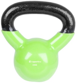 inSPORTline Vinyl Coated Dumbbell Green 4kg 10746