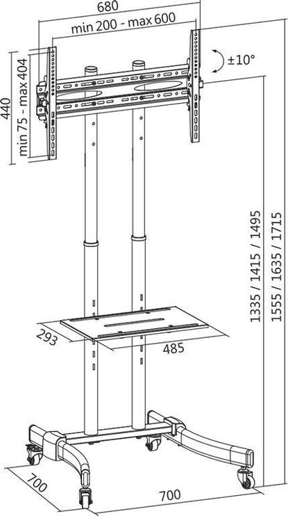 LogiLink TV Stand Cart BP0026
