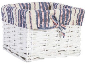 Home4you Basket Max 3 22x22xH15cm White/Blue