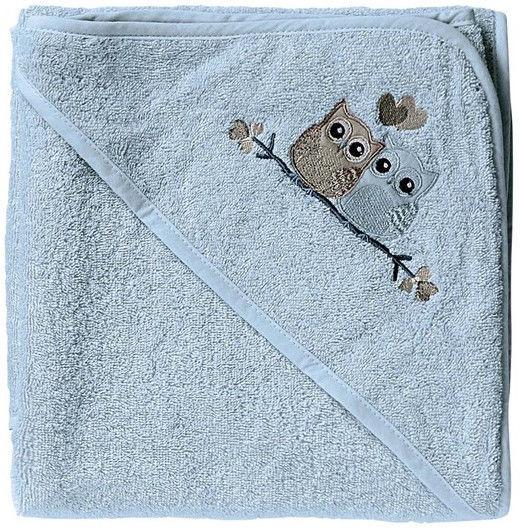 BabyDan Bath Towel With Hood Blue