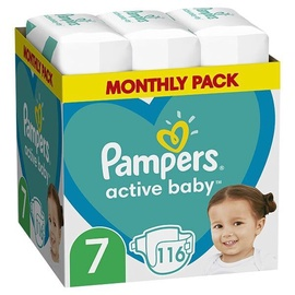 Подгузники Pampers Active Baby, 7, 116 шт.