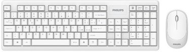Philips C314 Slim Ergonomic Keyboard EN + Wireless Mouse White