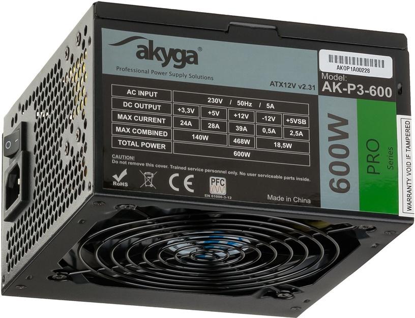 Akyga ATX 600W AK-P3-600