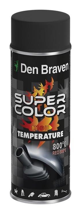 Aerosola krāsa Den Braven, 400ml, balta, karstumizturīga