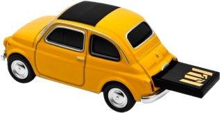 Autodrive Fiat Nuova 500 16GB Yellow