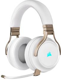 Belaidės ausinės Corsair Virtuoso RGB, aukso/baltos