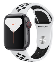 Apple Watch Nike Series 5 40mm GPS Space Gray Aluminum Case with Pure Platinum Black Band Cellular