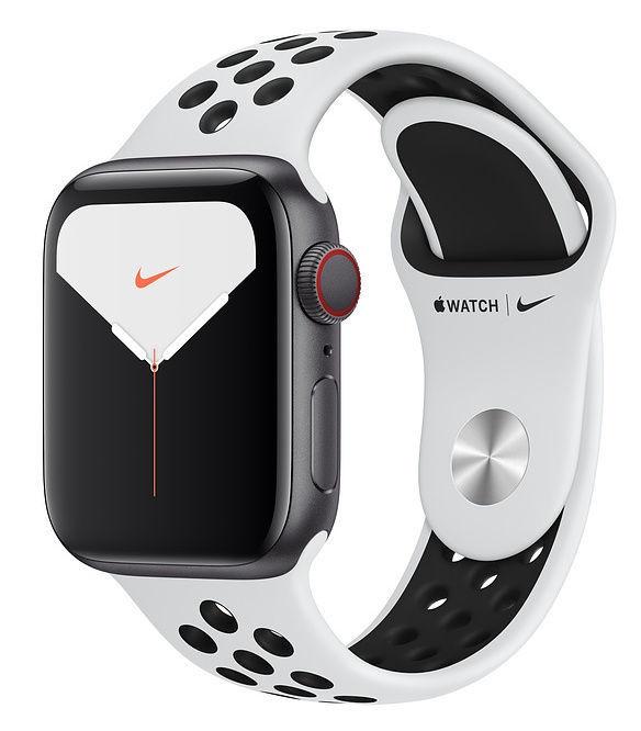 Išmanusis laikrodis Apple Nike Series 5, balta/sidabro/juoda