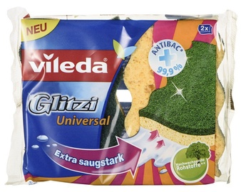 Vileda Glitzi Crystal Scouring Foam Sponge 144789